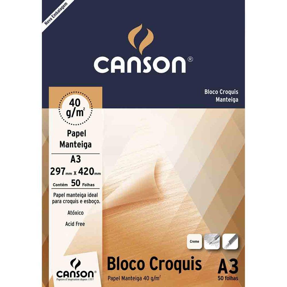 Bloco Croquis Univ A3 40g 50f Canson