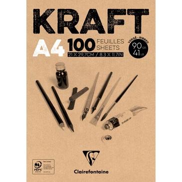 Bloco de Papel Clairefontaine Kraft