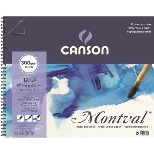 Bloco Montval Aquar T Fina C/ Espiral 12fls 37x46 300gm2 Canson