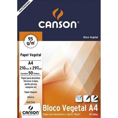 Bloco Vegetal Tecnico 90g A4 50fls Canson
