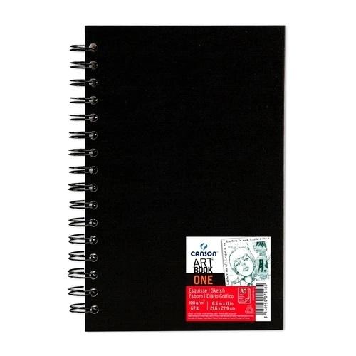 Caderneta Artbook One Sketchbook Espiral 100g A4 80folhas Canson