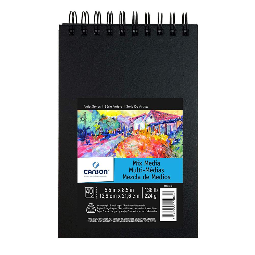 Caderno Artbook Técnicas Mistas Espiral A5 40fls 224gm Canson