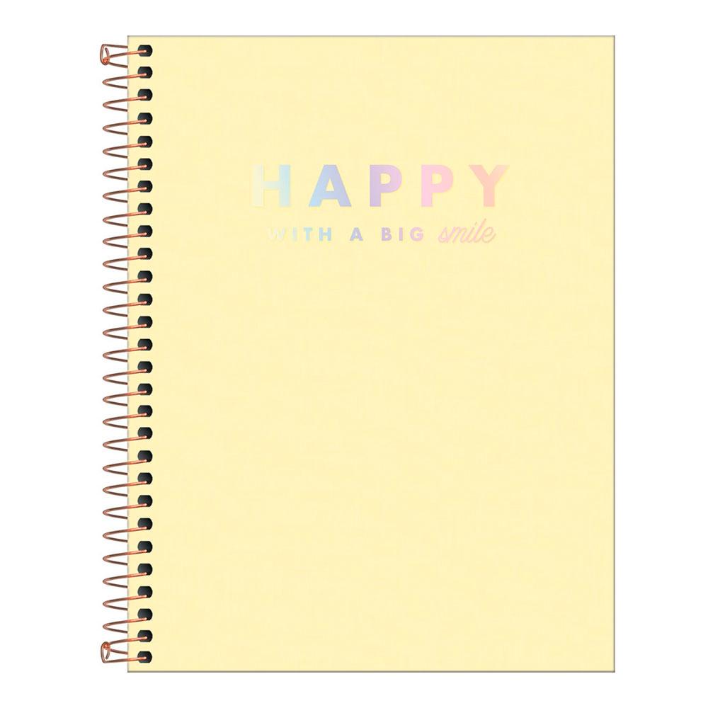 Caderno Colegial Happy 10 Matérias 160fls