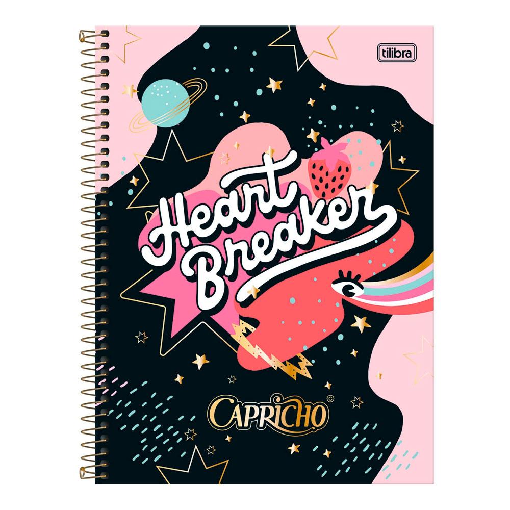 Caderno Universitário Capricho 1 Matéria 80f - Heart Breaker
