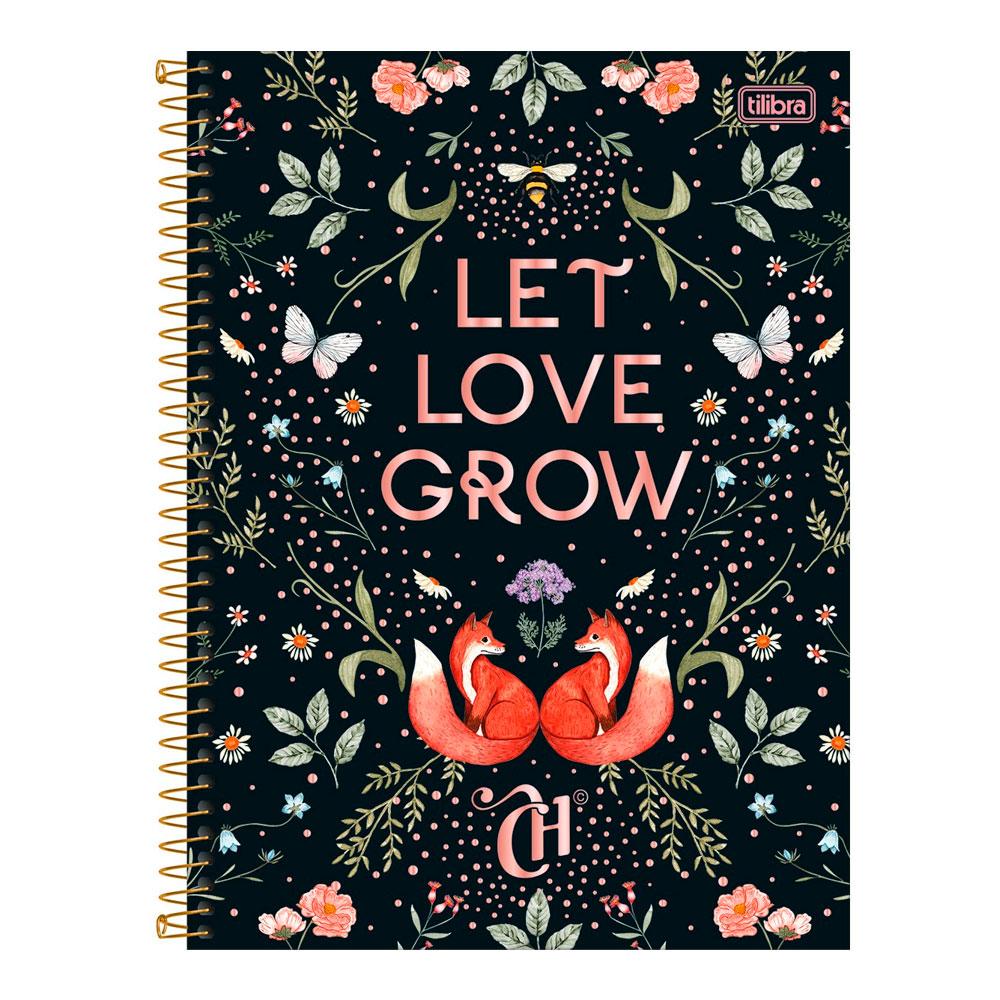 Caderno Universitário Capricho 1 Matéria 80f - Let Love Grow