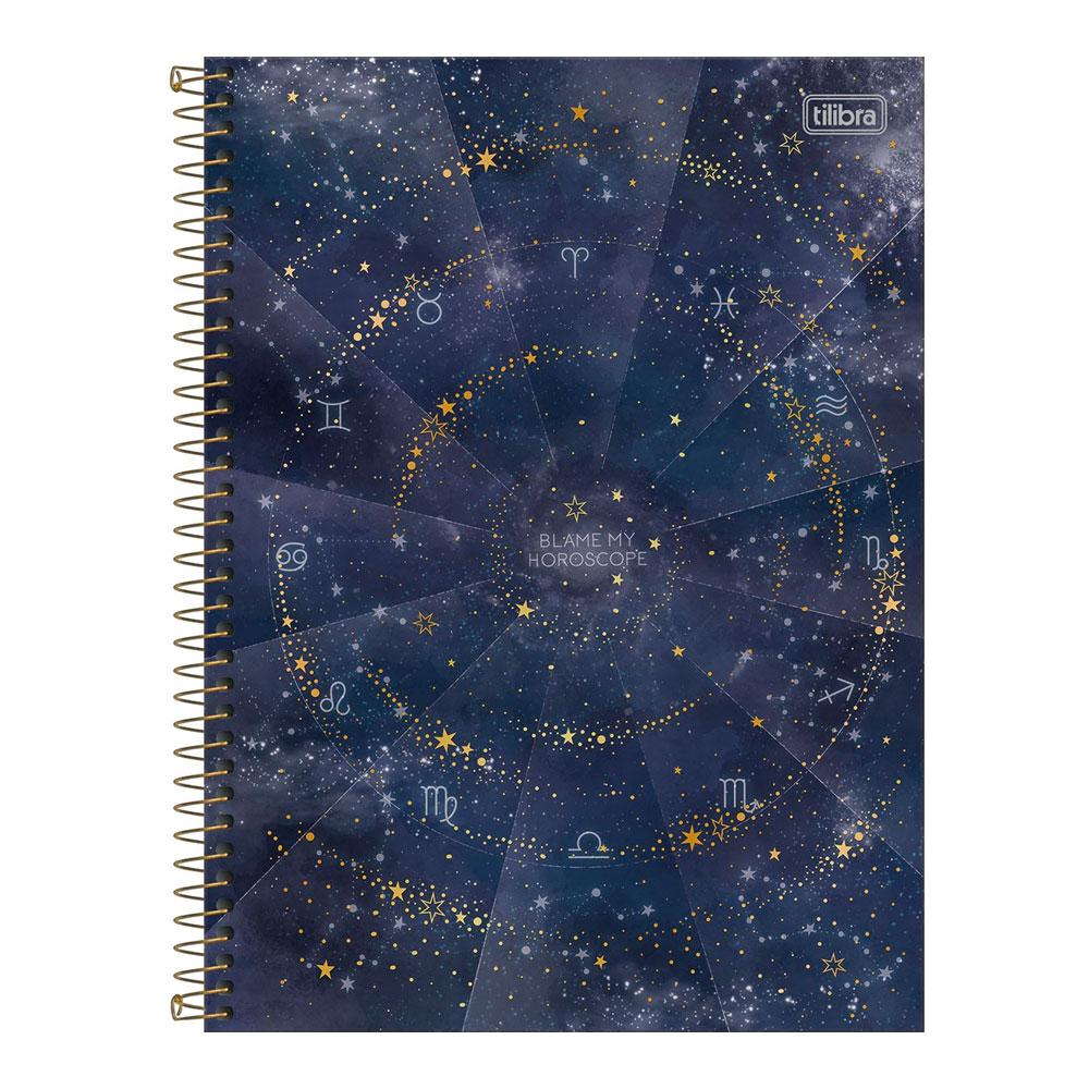 Caderno Universitário Magic 10 Matéria 160f  Tilibra - Blame my Horoscope