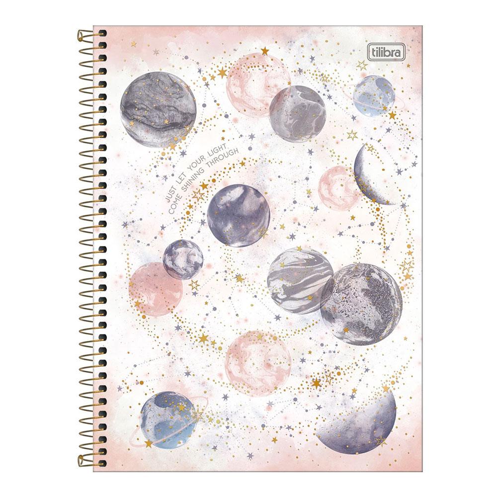 Caderno Universitário Magic 10 Matéria 160f  Tilibra - Just Let Your Light