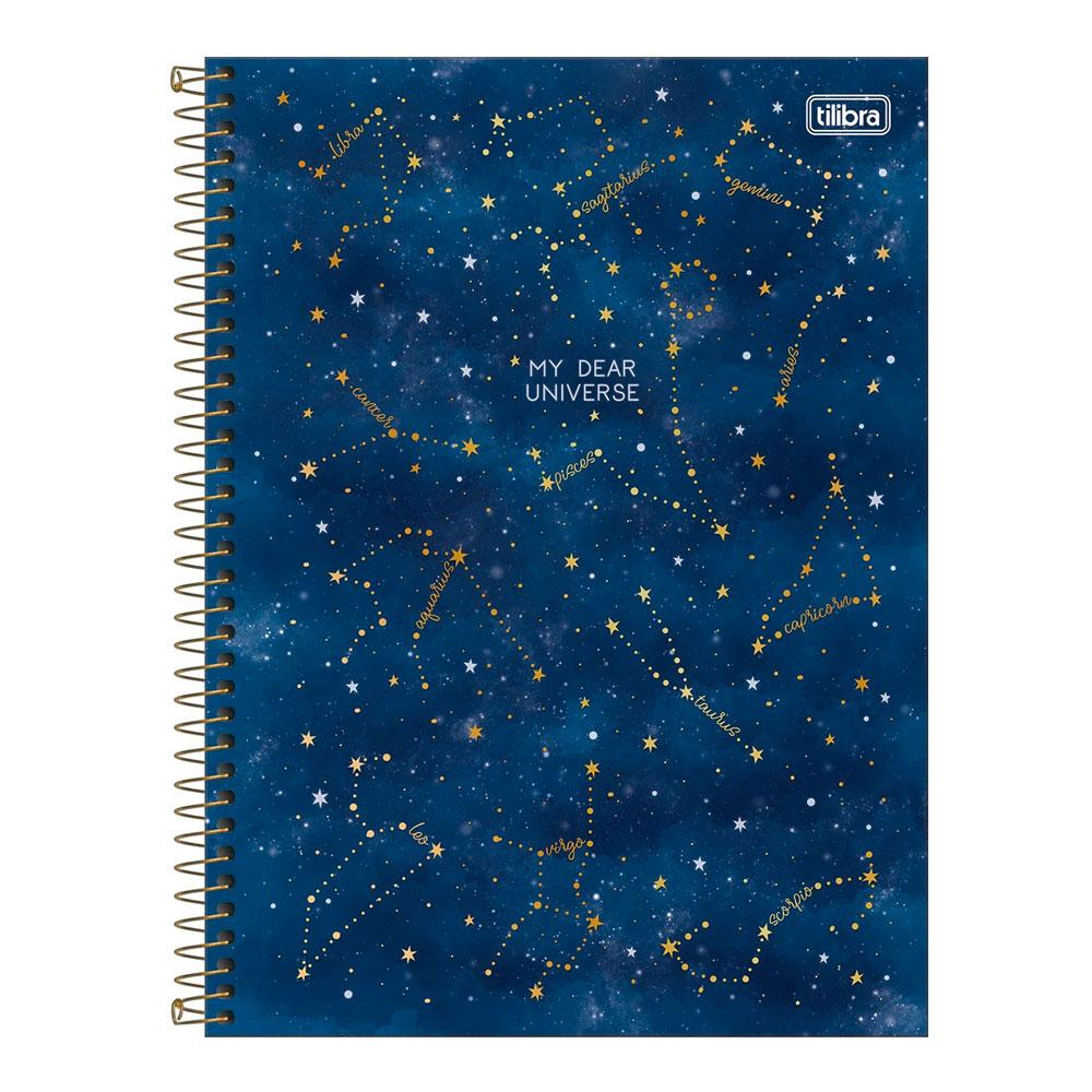 Caderno Universitário Magic 10 Matéria 160f  Tilibra - My Dear Universe
