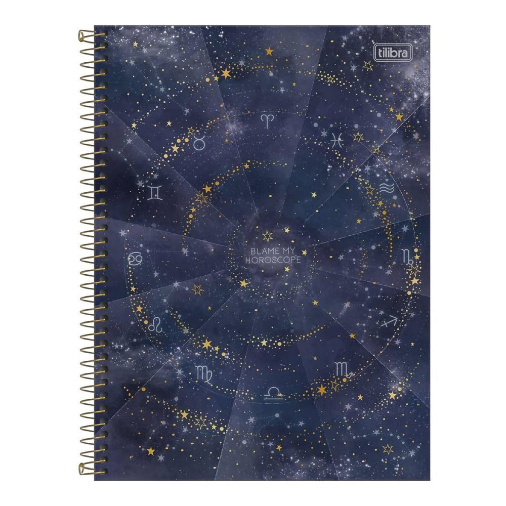 Caderno Universitário Magic 1 Matéria 80f  Tilibra - Blame my Horoscope