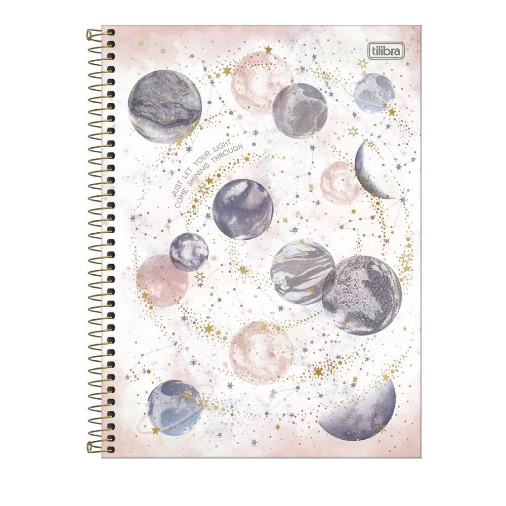 Caderno Universitário Magic 1 Matéria 80f  Tilibra - Just Let Your Light