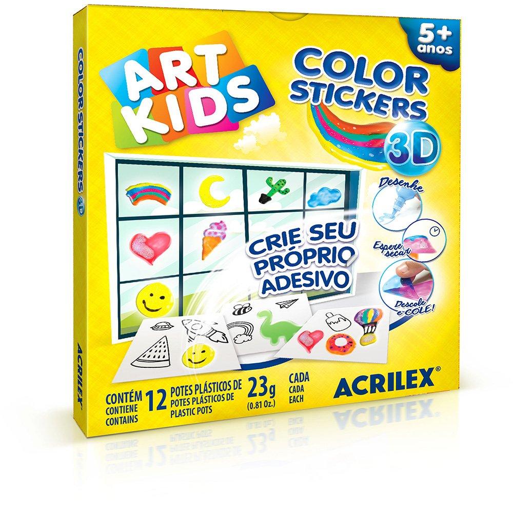 Color Stickers 12x23g Acrilex
