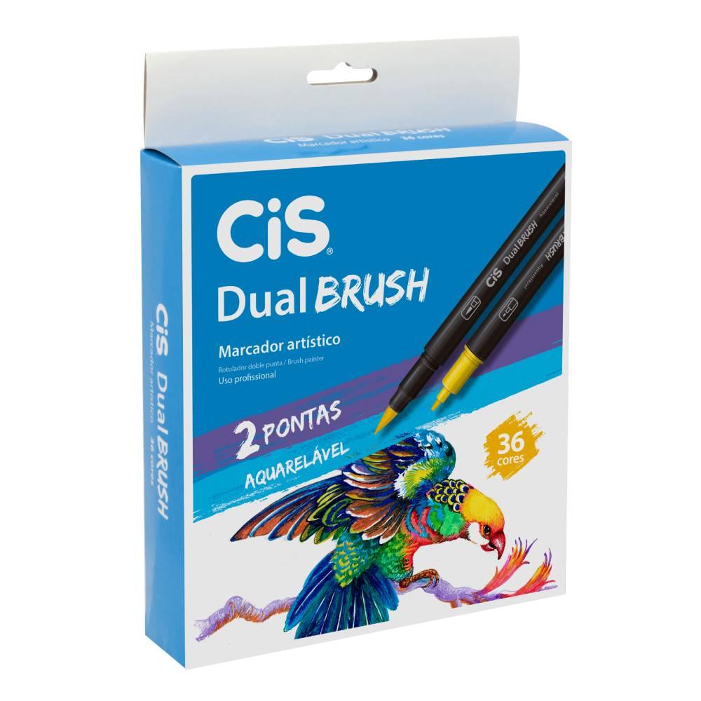 Conjunto com 36 Marcadores Dual Brush Cis