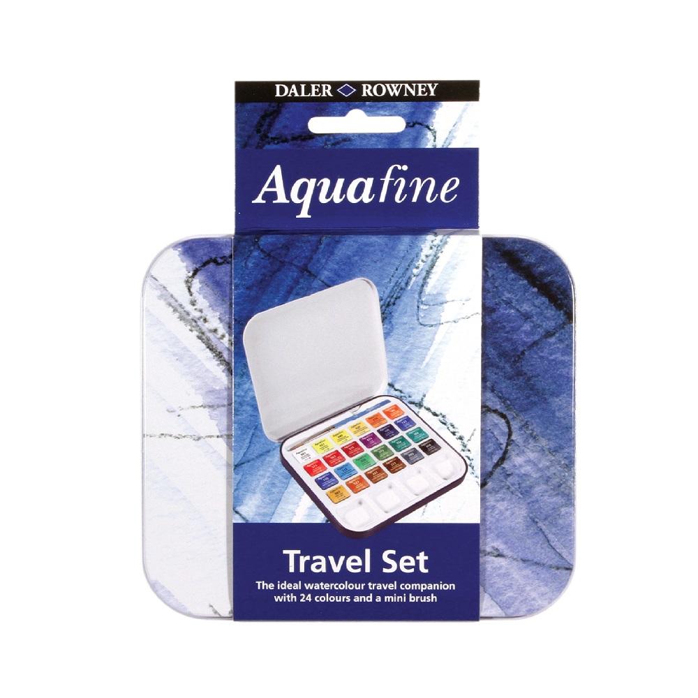 Conjunto de Aquarela para Viagem Travel Set Aquafine 24 cores