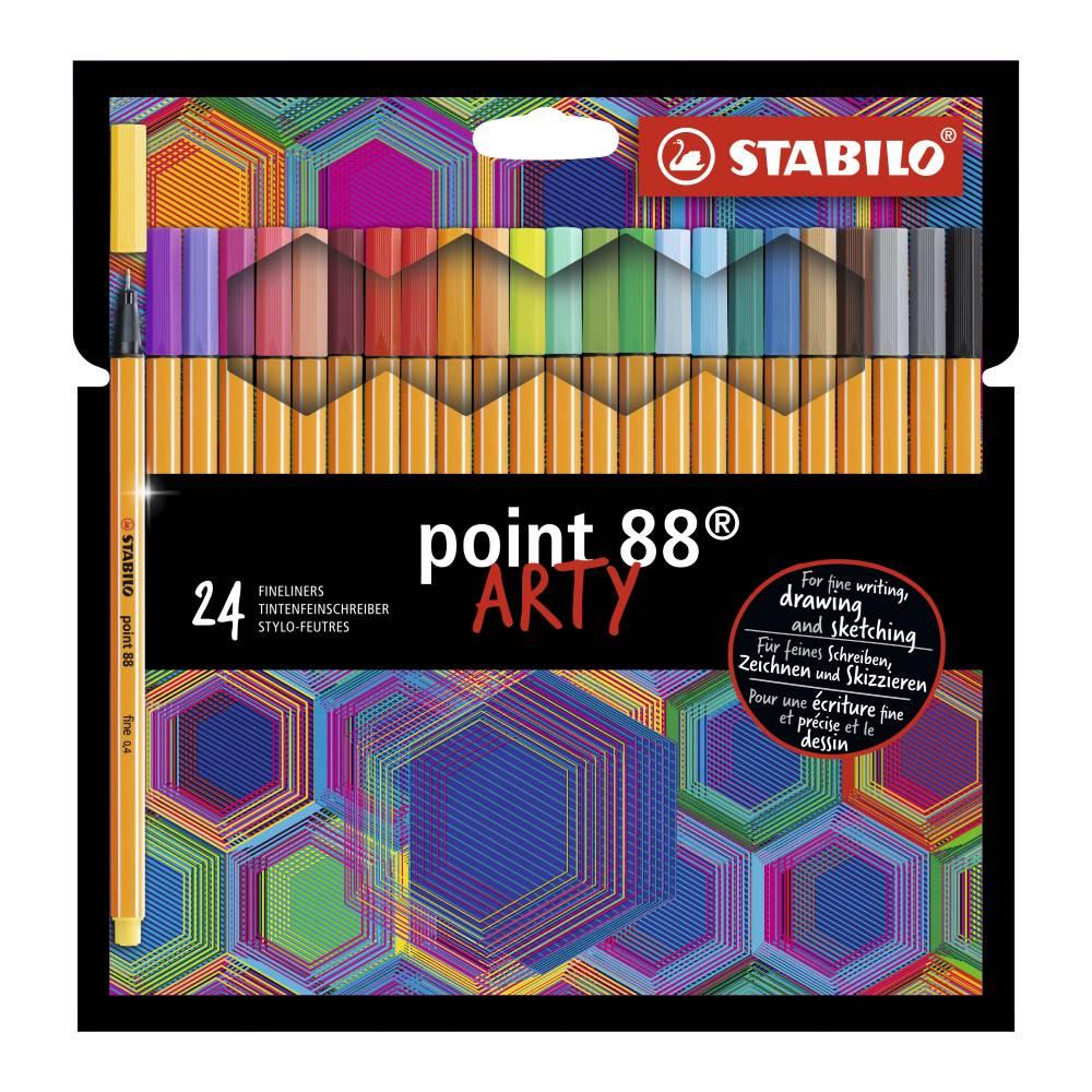 Conjunto de Caneta Stabilo Point 88 Arty c/ 24