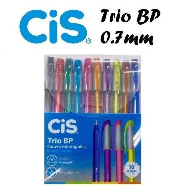Conjunto de Canetas Esferográficas Cis Trio BP c/ 10 un
