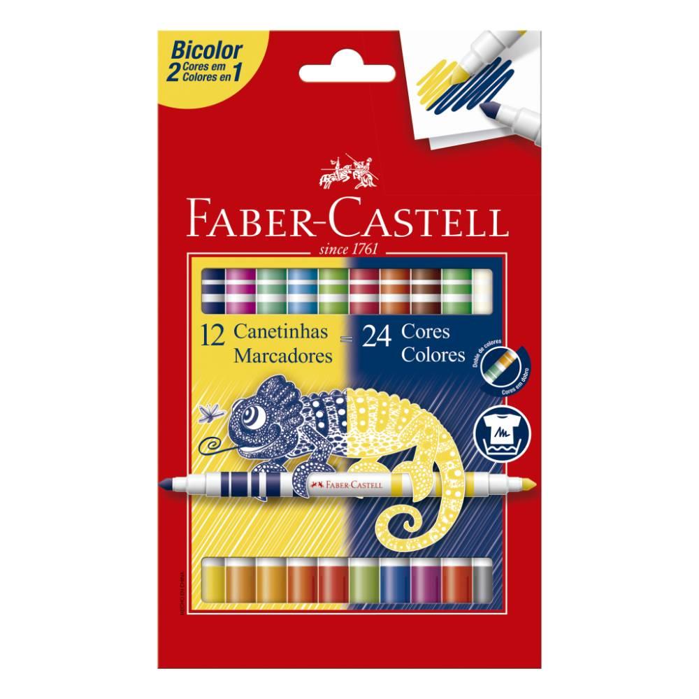 Conjunto de Canetinhas Bicolor 12=24 Faber-Castell