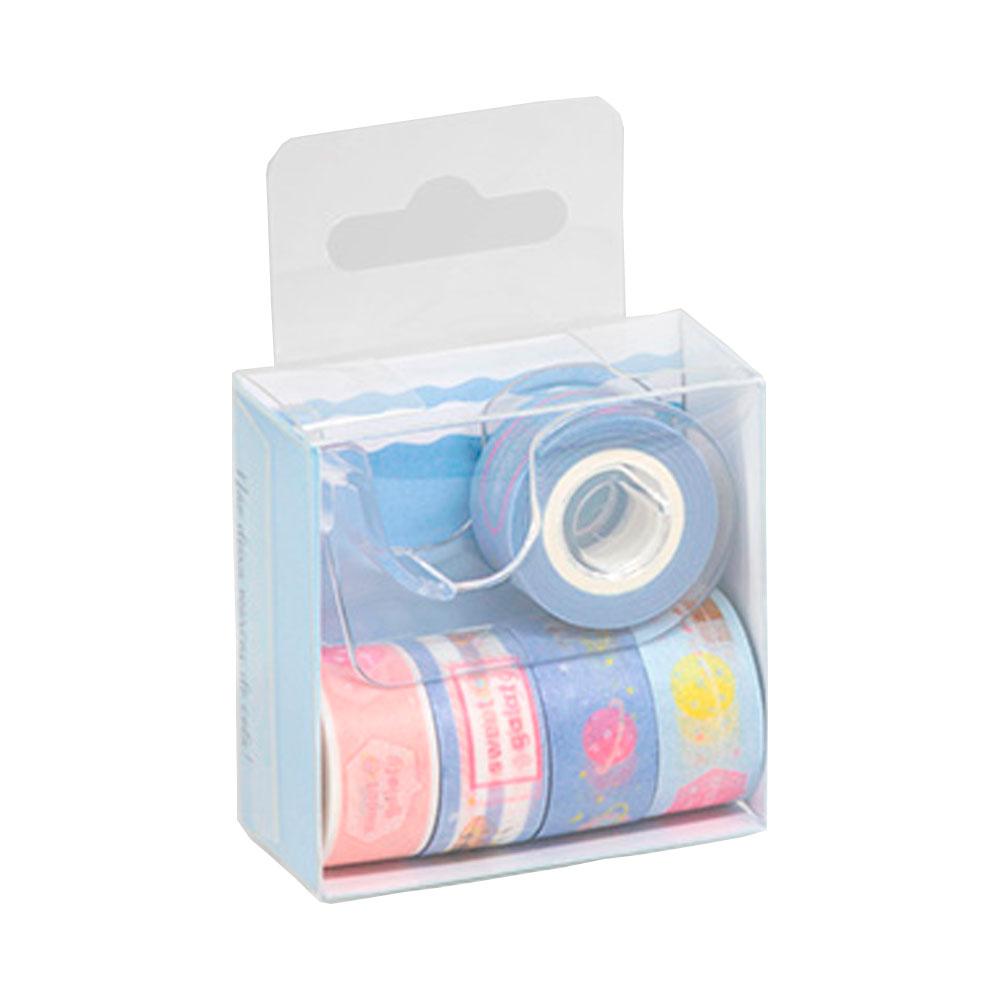 Conjunto de Fitas Washi Tape c/ Dispenser Mini