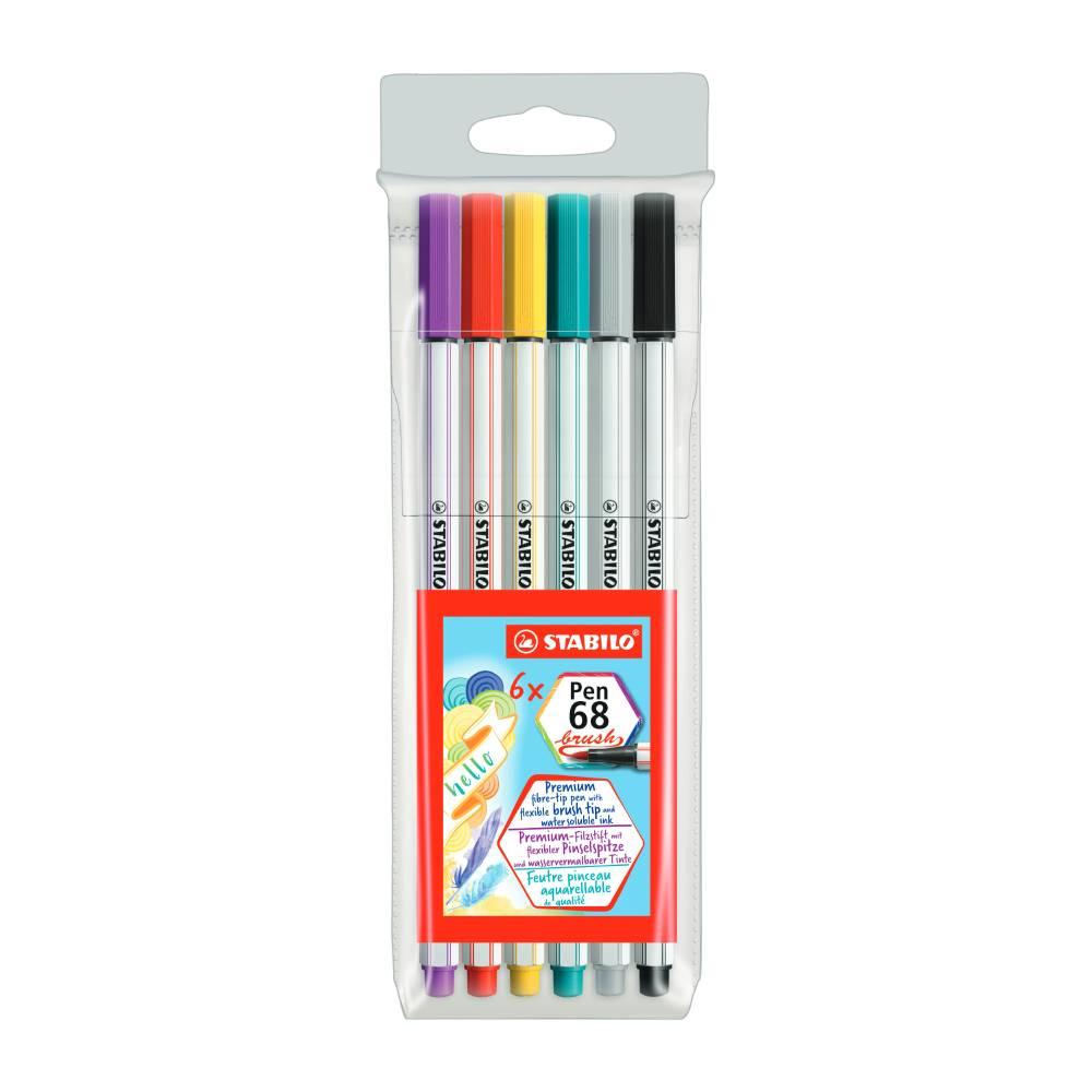 Conjunto de Stabilo Pen Brush c/ 6
