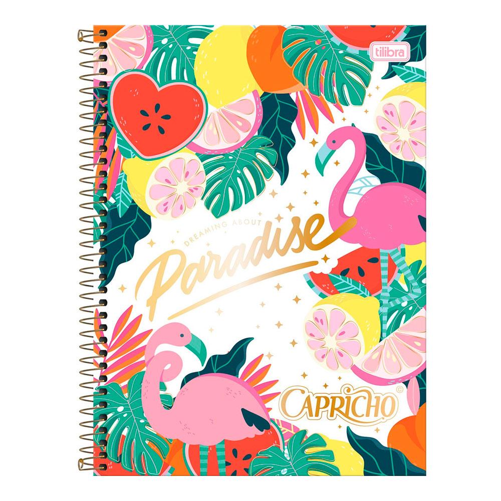 Caderno Universitário Capricho 1 Matéria 80f - Paradise