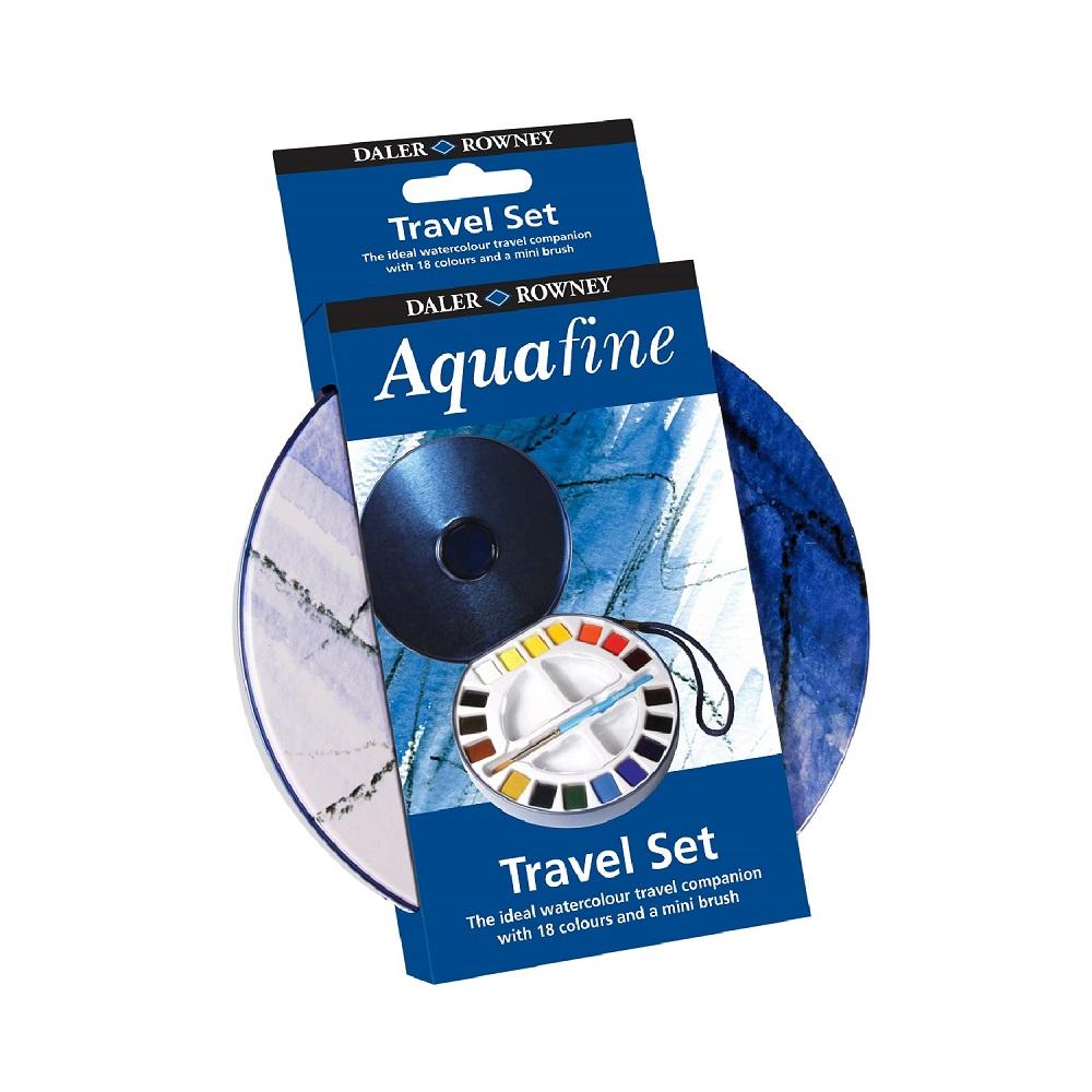 Conjunto de Aquarela para Viagem Travel Set Aquafine 18 cores