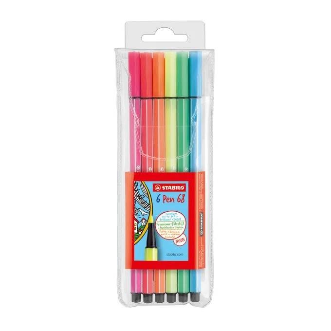 Conjunto de Stabilo Pen c/ 6 Cores Neon