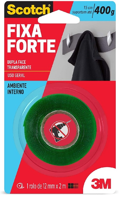 Fita Fixa Forte 12x2m 3m.