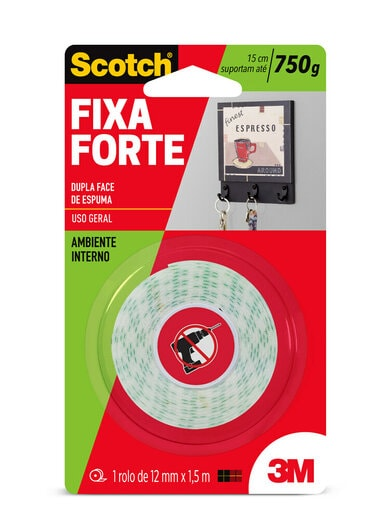 Fita Fixa Forte Espuma 12x1.5m 3m