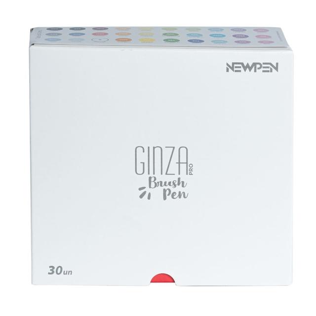 Conjunto de Canetas Brush Ginza Pro Newpen c/ 30