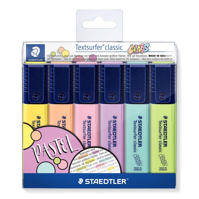 Conjunto de Marca Texto Textsurfer Classic Colors 6 Cores Staedtler