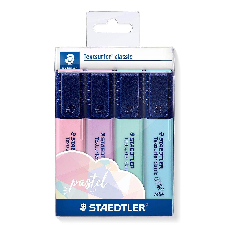 Conjunto de Marca Texto Textsurfer Classic Pastel 4 Cores Staedtler