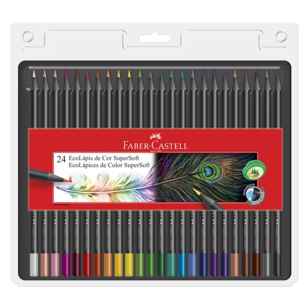 Lápis de Cor Supersoft Faber-Castell 24 Cores