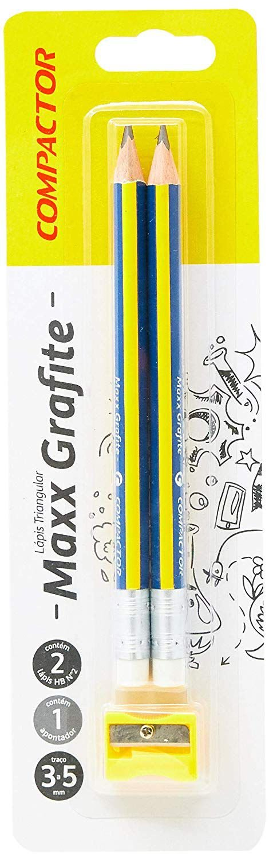 Lápis Triangular Maxx Grafite Hb Compactor