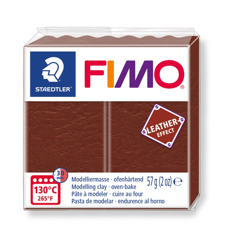 Massa Polymer Clay FIMO Leather Effect Staedtler 57g