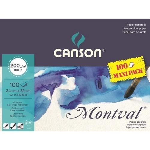 Montval Aquarela T Fina Jumbo 100fls A4+ 200gm2 Canson