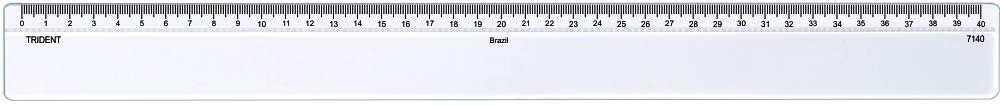 Régua de Acrílico 40cm Trident