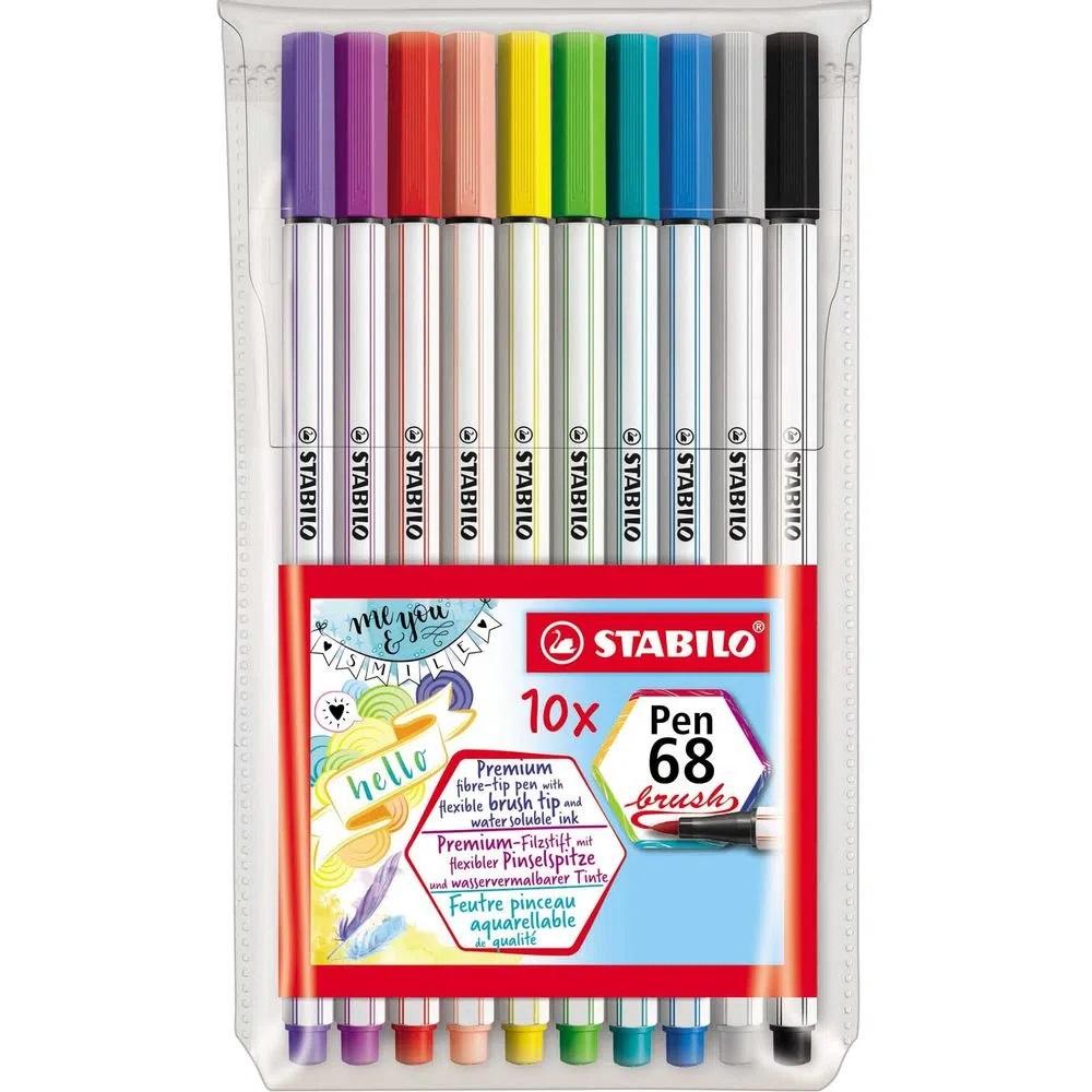 Stabilo Pen Brush Estojo Com 10