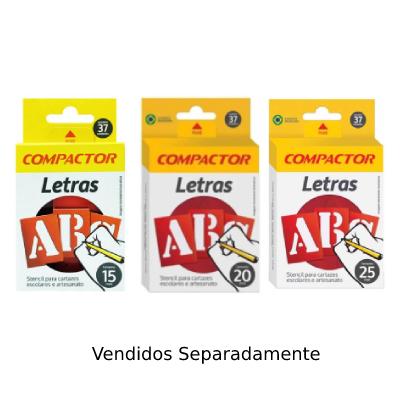 Stencil Para Cartazes e Artesanato 15mm, 20mm e 25mm, Letreiro Compactor
