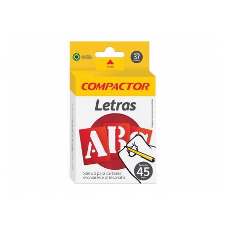 Stencil Para Cartazes E Artesanato Letreiro Abc 45mm Compactor