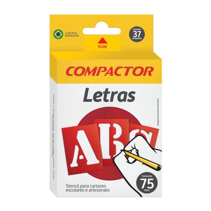 Stencil Para Cartazes E Artesanato Letreiro Abc 75mm Compactor
