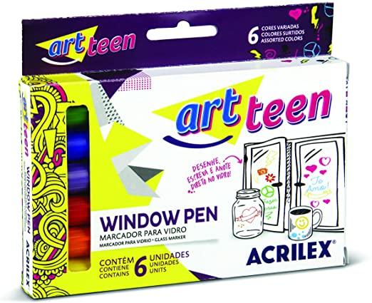 Window Pen C/6 Cores Acrilex