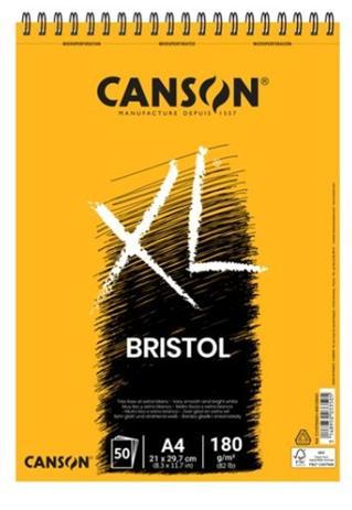 Xl bristol 50fls a4 180g espiral Canson