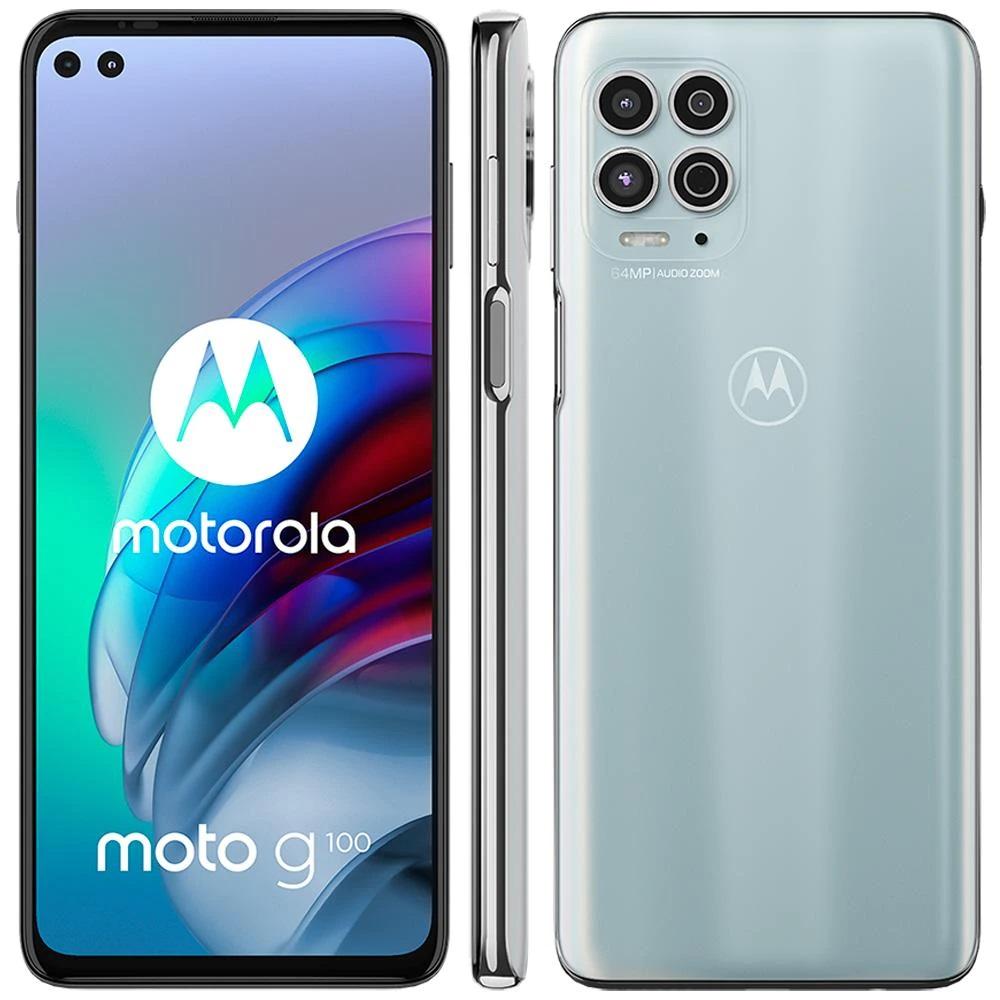 Smartphone Motorola Moto G100 5G 256GB Luminous Sky 12GB Ram