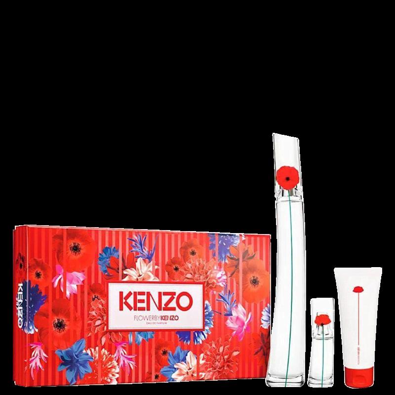Kit Flower By Kenzo Eau De Parfum Feminino 100ml + TS 15ml + BM 75ml