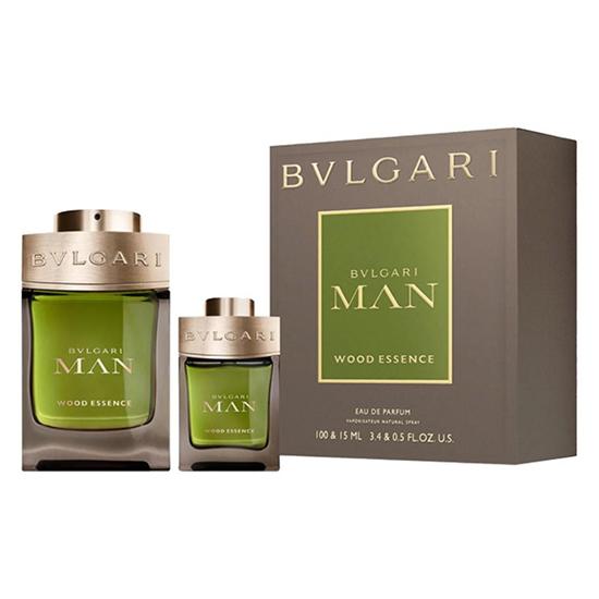 Kit Bvlgari Man Wood Essence Eau de Parfum Masculino 100ml + 15ml