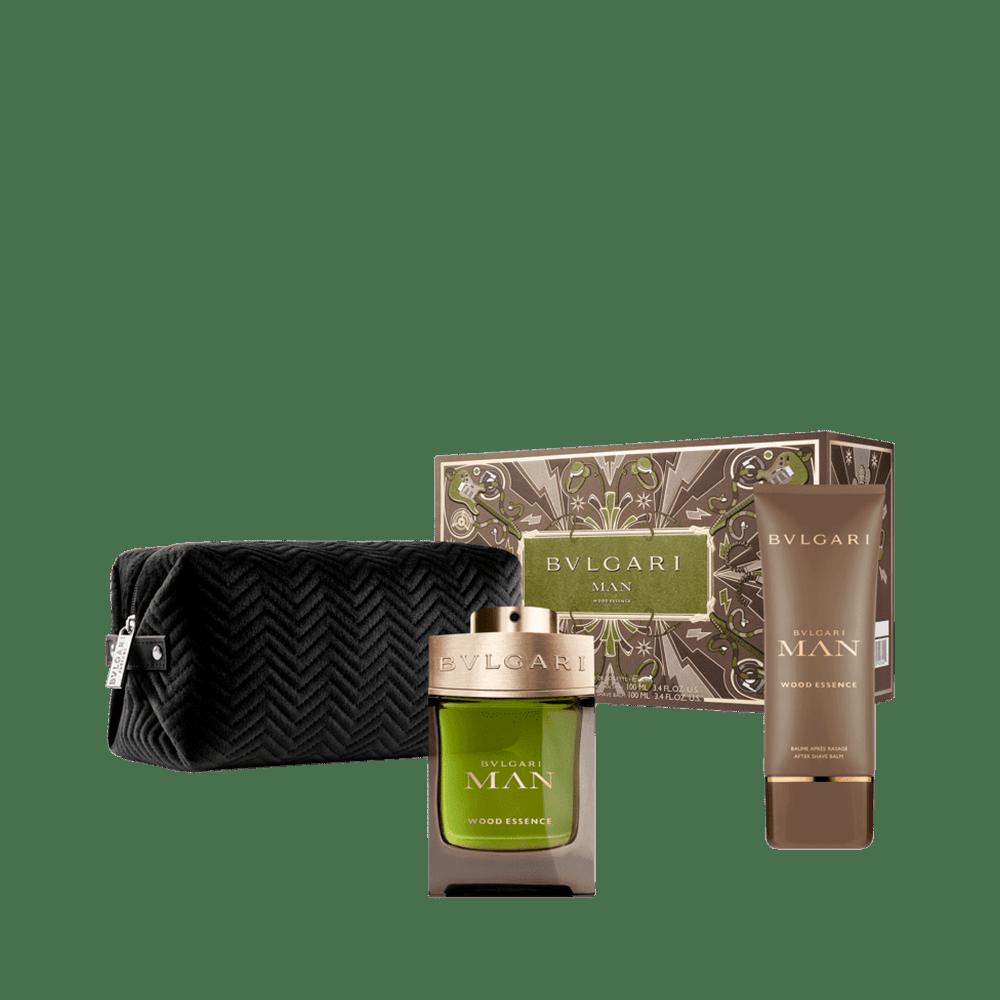 Kit Bvlgari Man Wood Essence Eau de Parfum Masculino 100ml + Balm 100ml + Nécessaire