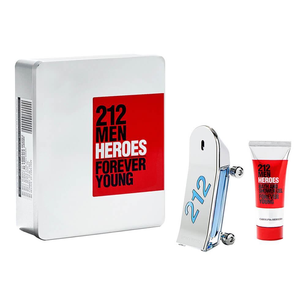 Kit Carolina Herrera 212 Men Heroes Eau de Toilette Masculino 90ml + SG 100ml