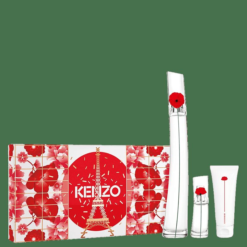 Kit Flower By Kenzo Poppy Bouquet Eau de Parfum 100ml + TS 15ml + BL 75ml