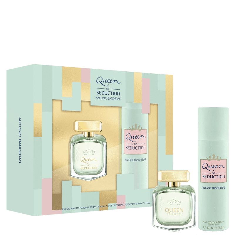 Kit Queen of Seduction Antonio Banderas Eau de Toilette Feminino 80ml + Deo 150ml
