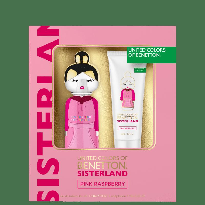 Kit Sisterland Pink Raspeberry Benetton Eau de Toilette Feminino 80ml + BL 75ml