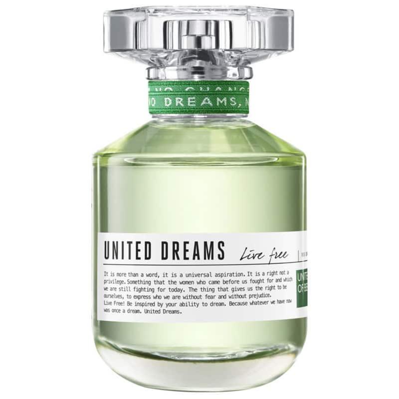 United Dreams Live Free Benetton Eau de Toilette Feminino